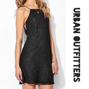 Pins & Needles Sleeveless Black Lace Mini Dress